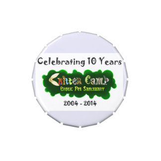 Critter Camp 10th Anniversary Tin 3 Jelly Belly Candy Tin