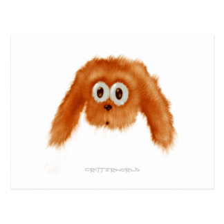 Critter del conejito de Brown Tarjetas Postales