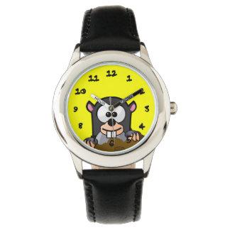 Critter del dibujo animado reloj