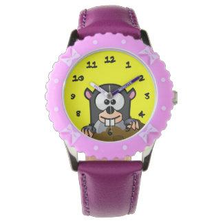 Critter del dibujo animado relojes de pulsera