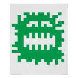 Critter del monstruo del pixel posters