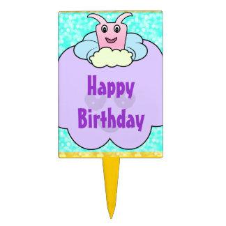 Critter en cumpleaños de las nubes decoración de tarta