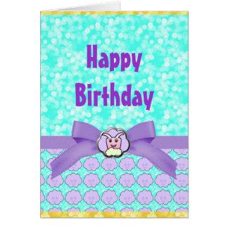 Critter en cumpleaños de las nubes tarjeta de felicitación
