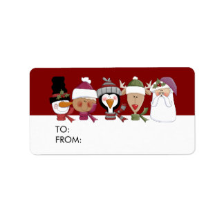 Critter Faces Gift Tags Address Label