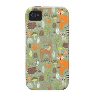 Critter Forest Vibe iPhone 4 Cover