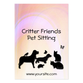 Critter Friends Pet Sitting Business Card Template