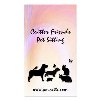 Critter Friends Pet Sitting Business Card