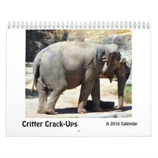 Critter Grieta-UPS, un calendario animal chistoso