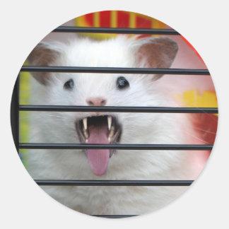Critter irritable pegatinas redondas