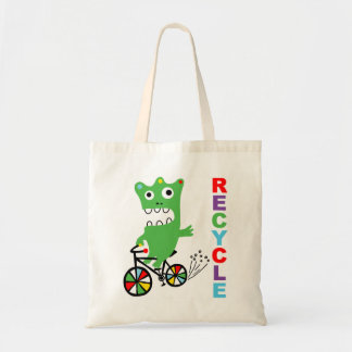 Critter on Bike!  - Recycle Bag