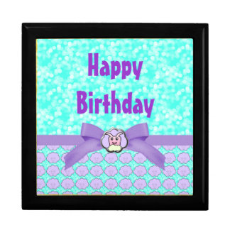 Critter On Clouds Birthday Gift Box