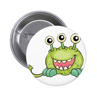 Critter on white 2 inch round button