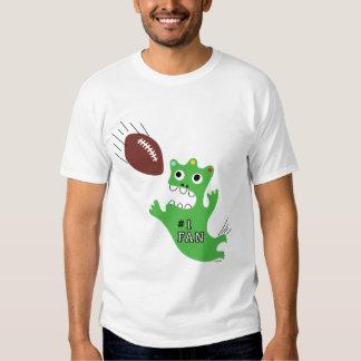Critter plays Football Tee Shirt