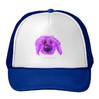 Critter púrpura del perrito gorros bordados