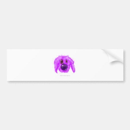 Critter púrpura del perrito pegatina para auto