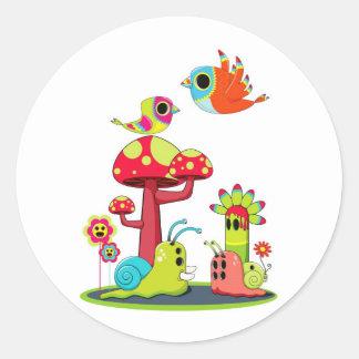 Critter Romance Classic Round Sticker