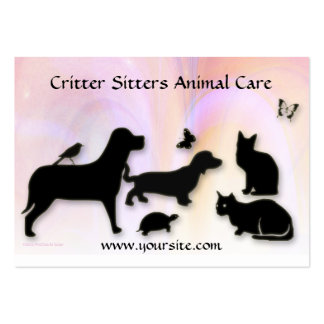 Critter Sitter Animal Care Business Card Templates