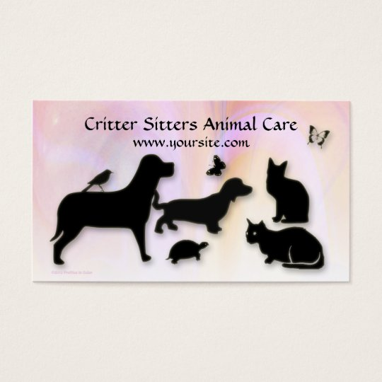 Critter Sitter Animal Care Business Card