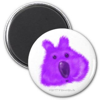 Critter sospechado púrpura imán redondo 5 cm