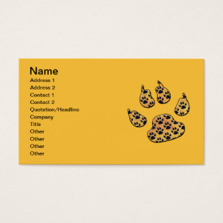 CRITTER TRACKS BUSINESS CARD