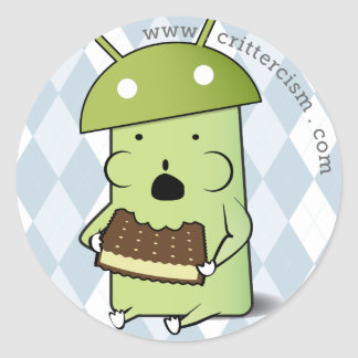 Critterdroid and Crittercism iOS stickers