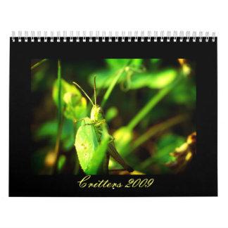 Critters 2009 calendars