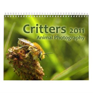 Critters 2011: Animal Photography Calendar