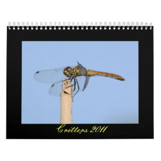 Critters 2011 calendar - Dragonflies and more
