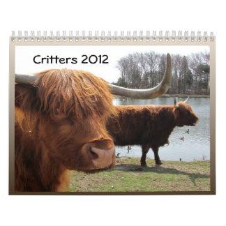 Critters 2012 ~ calendar
