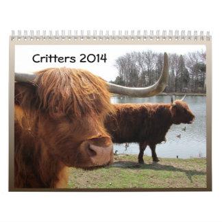 Critters 2014 ~ calendar