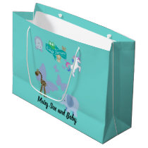 Critters and Butterflies Baby Shower Large Gift Bag