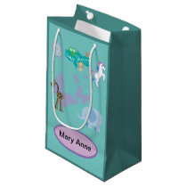 Critters and Butterflies Baby Shower Small Gift Bag