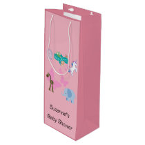 Critters and Butterflies Baby Shower Wine Gift Bag