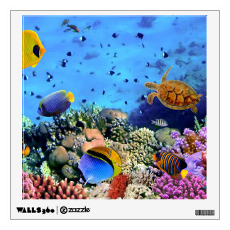 Critters coloridos del arrecife de coral vinilo adhesivo