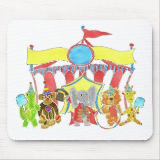 Critters de la tienda de circo mouse pad