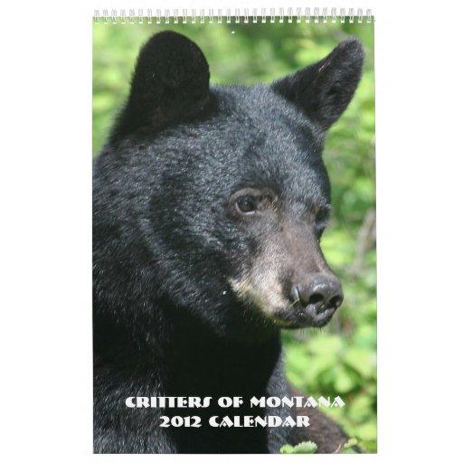 Critters del calendario de Montana 2012