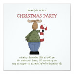 Critters del navidad · Bastón de los alces y de Invitación 13,3 Cm X 13,3cm