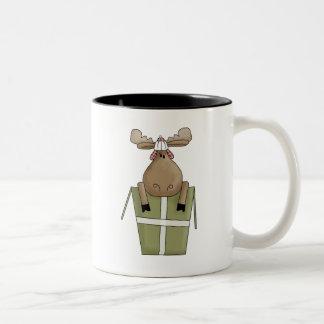 Critters del navidad · Caja de los alces y de rega Taza De Café