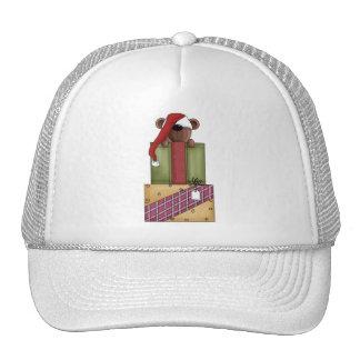 Critters del navidad · Oso y regalos de peluche Gorro De Camionero