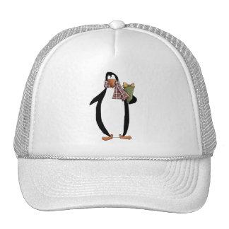 Critters del navidad · Pingüino y regalo Gorro