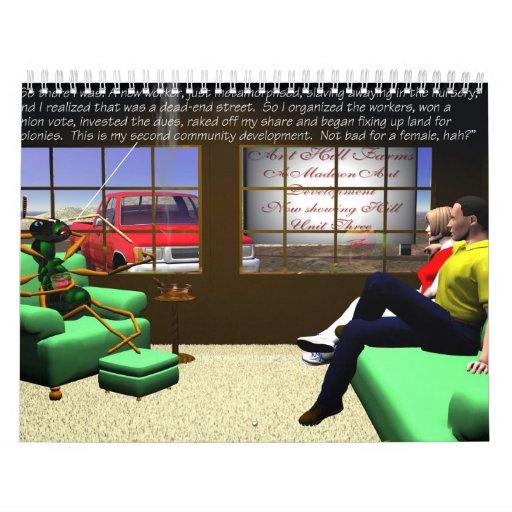 Critters - dibujos animados del Critter Calendario