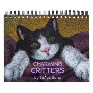 CRITTERS ENCANTADORES por el enlace de Tania Calendario De Pared
