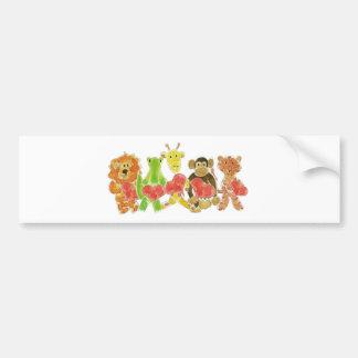 Critters Hearts Bumper Sticker