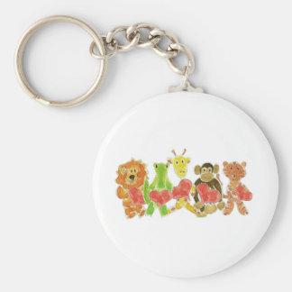 Critters Hearts Keychain