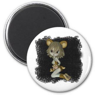 Critters lindos 01 imán redondo 5 cm