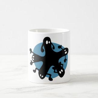 Critters lindos en una taza - azul