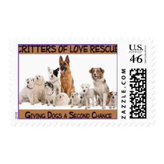 Critters Of Love Dog Rescue Stamp