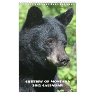 Critters of Montana 2012 Calendar