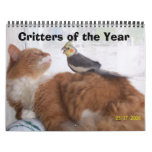 Critters of the Year Wall Calendar