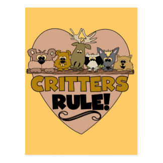 Critters Rule Post Card
